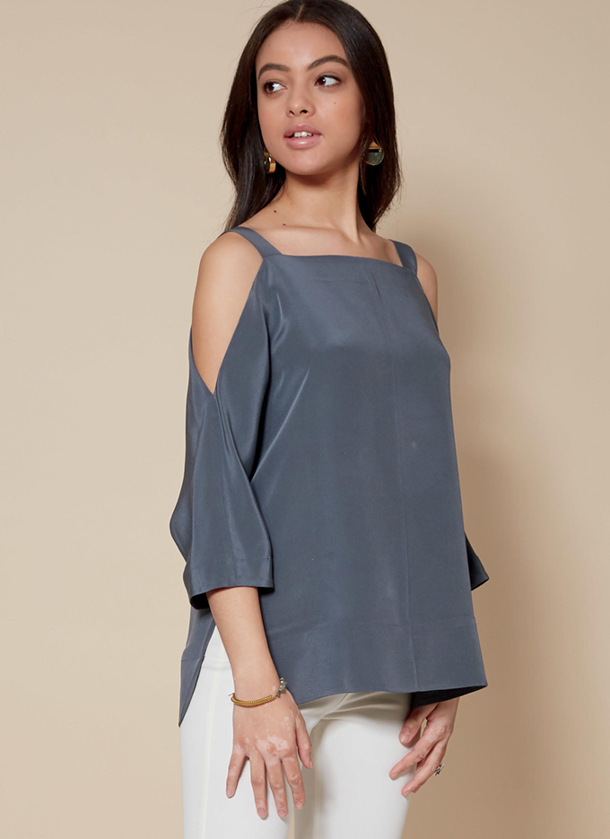 M7780 - off the shoulder tops with sleeve and length options