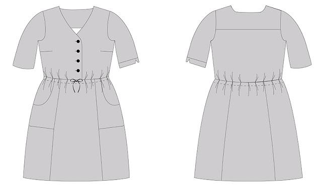 Quincy Dress from Jennifer Lauren Handmade