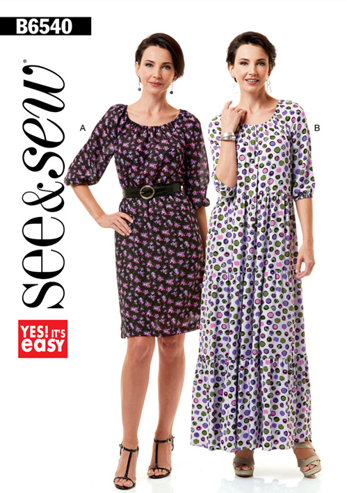 Butterick 6540 dress pattern