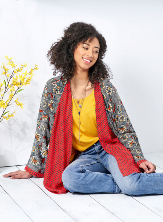 Simplicity 8696 Kimono with front drape