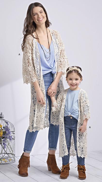 Simplicity 8707 Mother/Daughter Kimonos