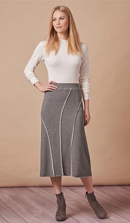 Simplicity 8745 rib knit skirts