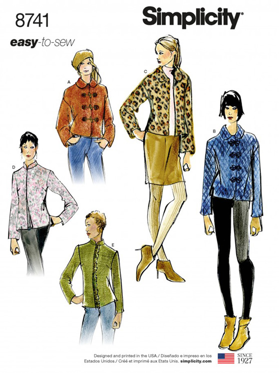 Simplicity 8741 timeless jackets