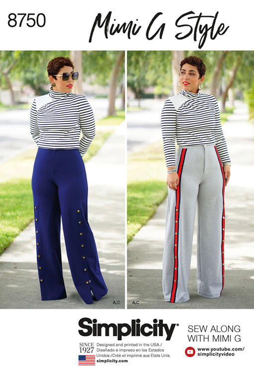 Simplicity 8750 Mimi G top & wide leg trousers