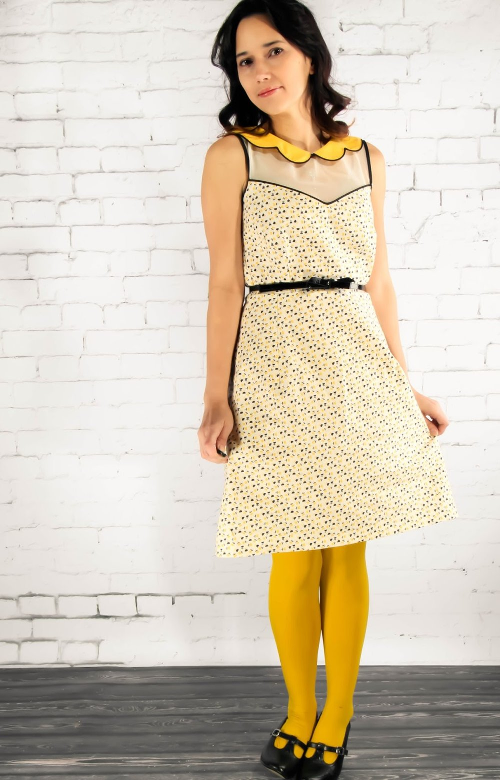 Beehive Dress from Grosgrain Fabric