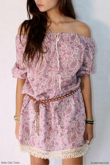Boho Chic Tunic Dress from So Sew Easy