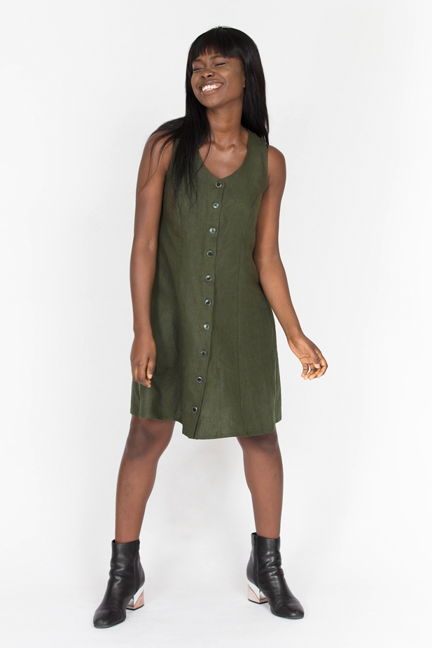 Button-up Dress from In the Folds
