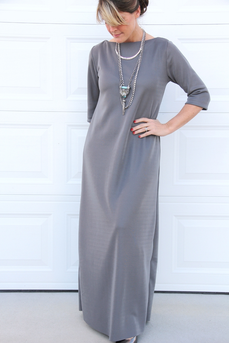 Easy Maxi Dress DIY from Sewing Rabbit