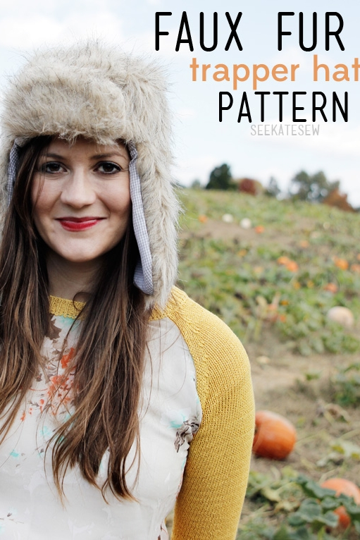 Faux Fur Trapper Hat by See Kate Sew