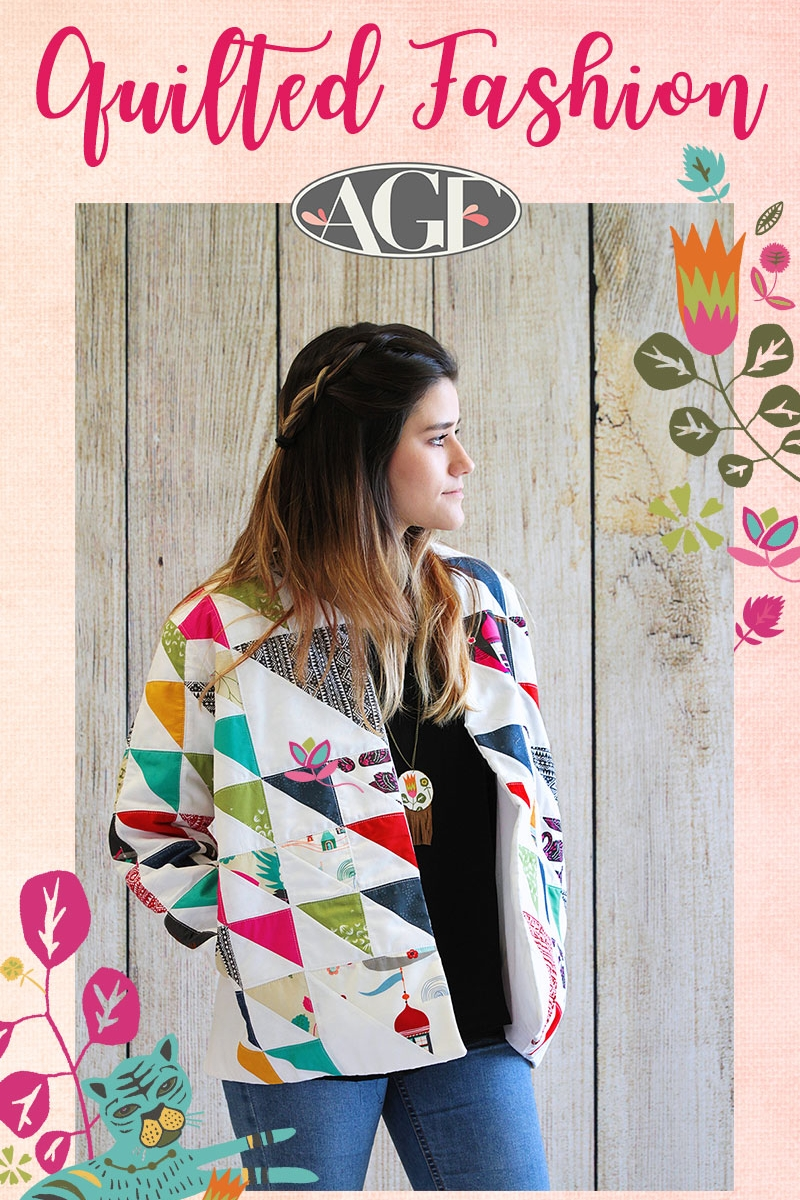 Quilted Jacket from Art Gallery Fabrics