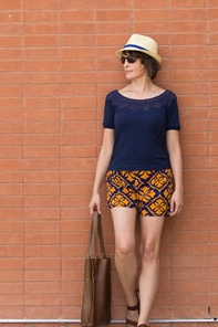 Graphic Print Shorts Tutorial from Melly Sews
