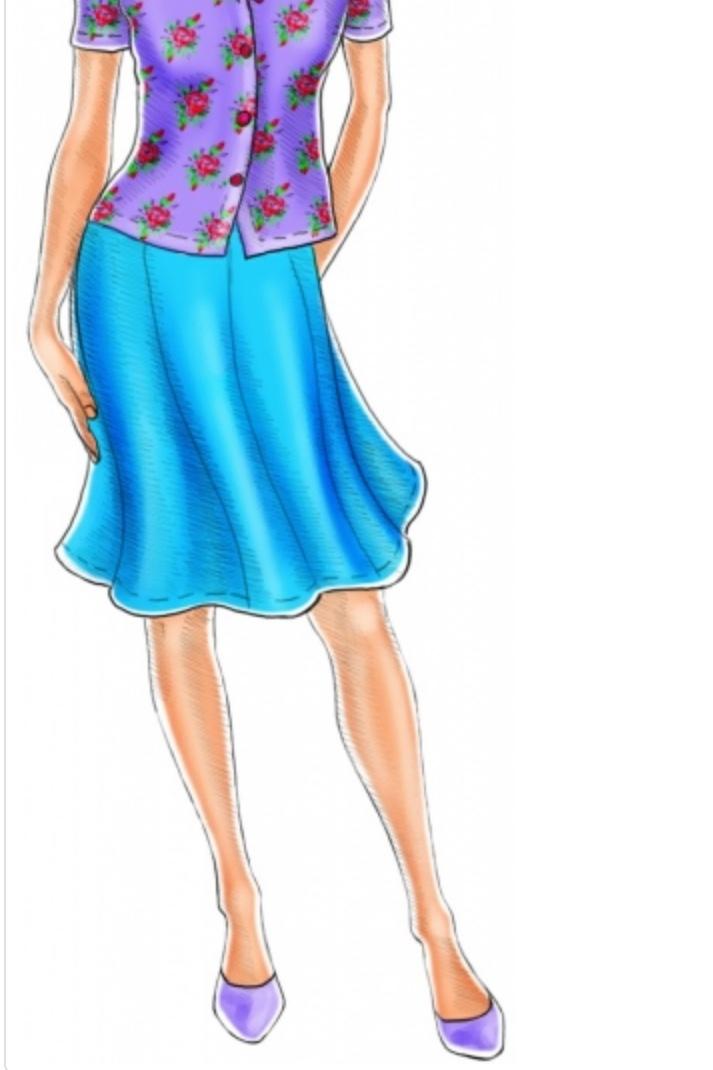 Gore Skirt from Lekala