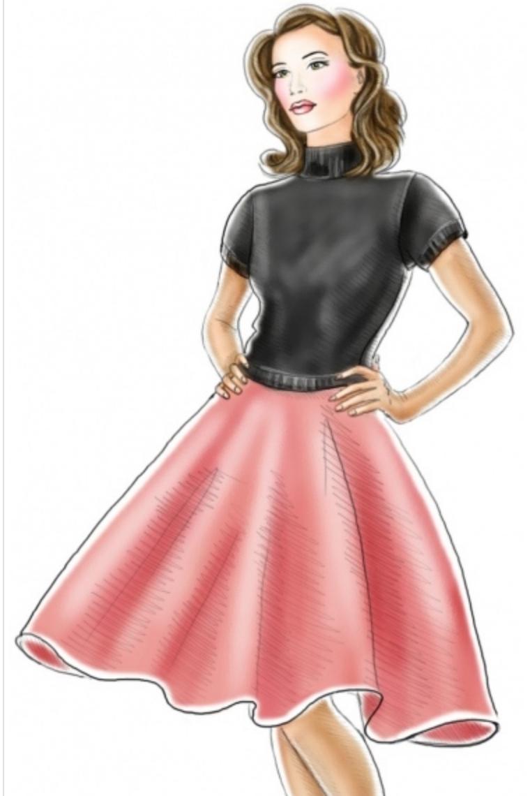 Poodle Skirt #5273 from Lekala Patterns