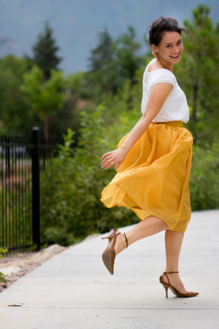 Chiffon Gathered Skirt by Delia Creates