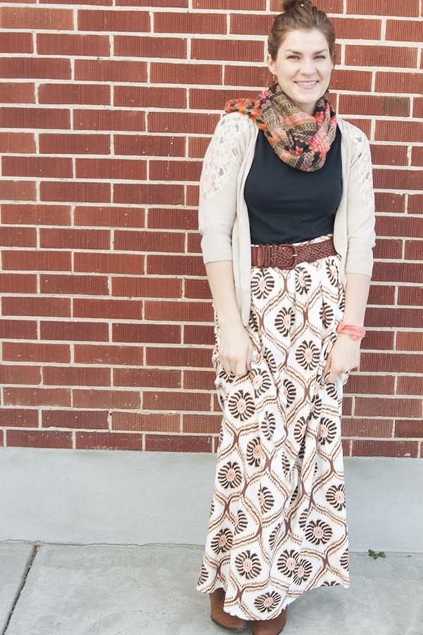 Maxi Skirt Tutorial from Mad Min