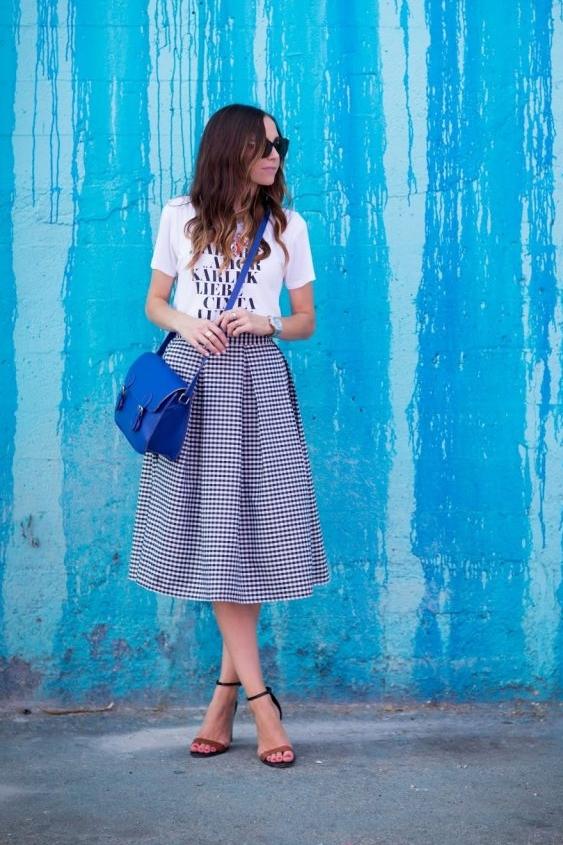 Pleated Midi Skirt from Merrick's Arts