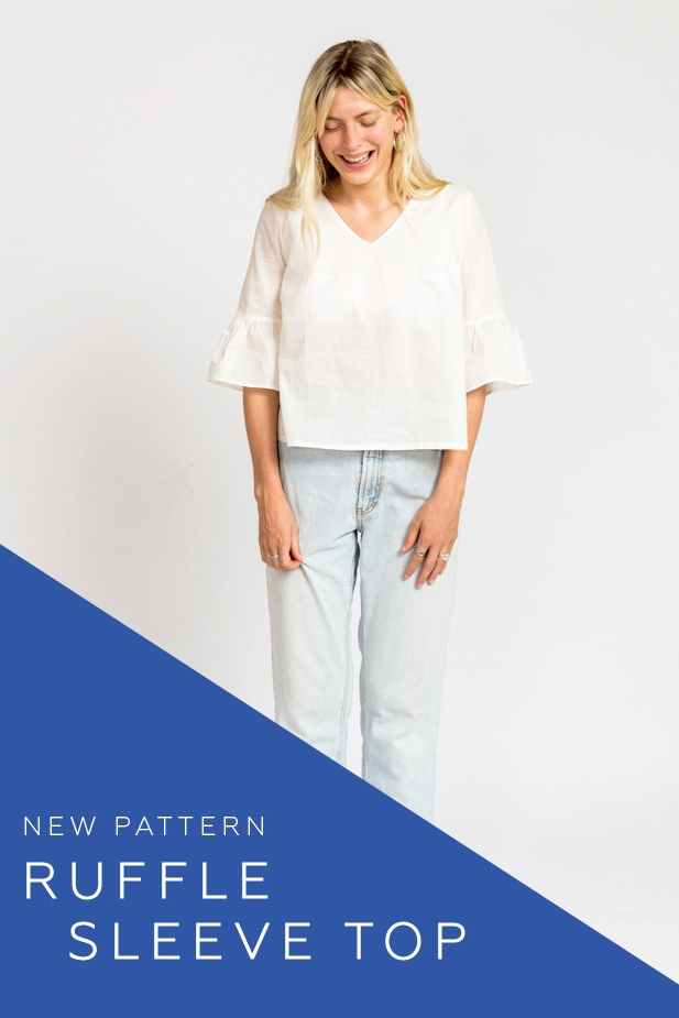Ruffle Sleeve Top by In the Folds/Peppermint