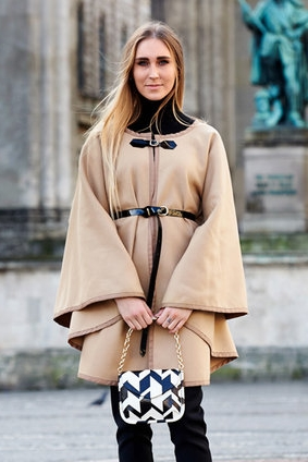 Belt Clasp Cape from BurdaStyle
