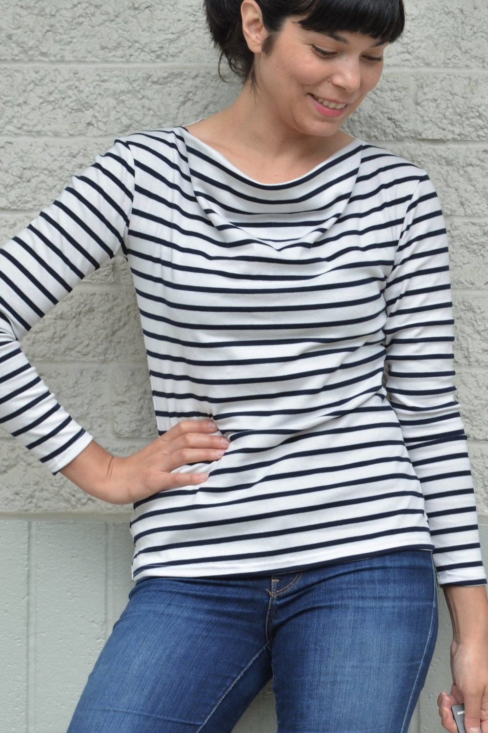 Rebecca Cowl neck top from DG Patterns