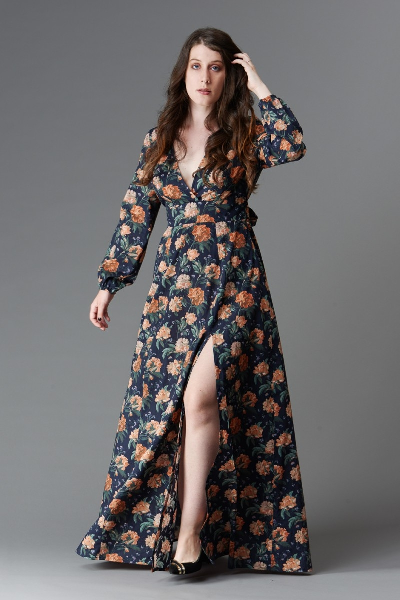 Magnolia maxi dress sewing pattern from Deer and Doe