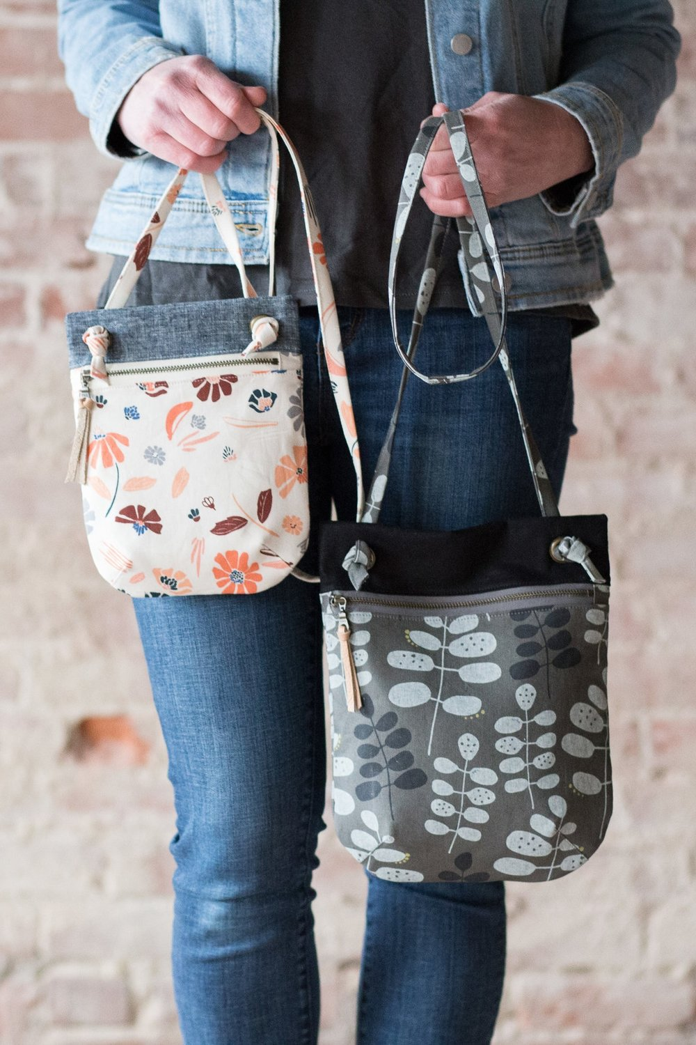 Forage bag sewing pattern from Noodlehead
