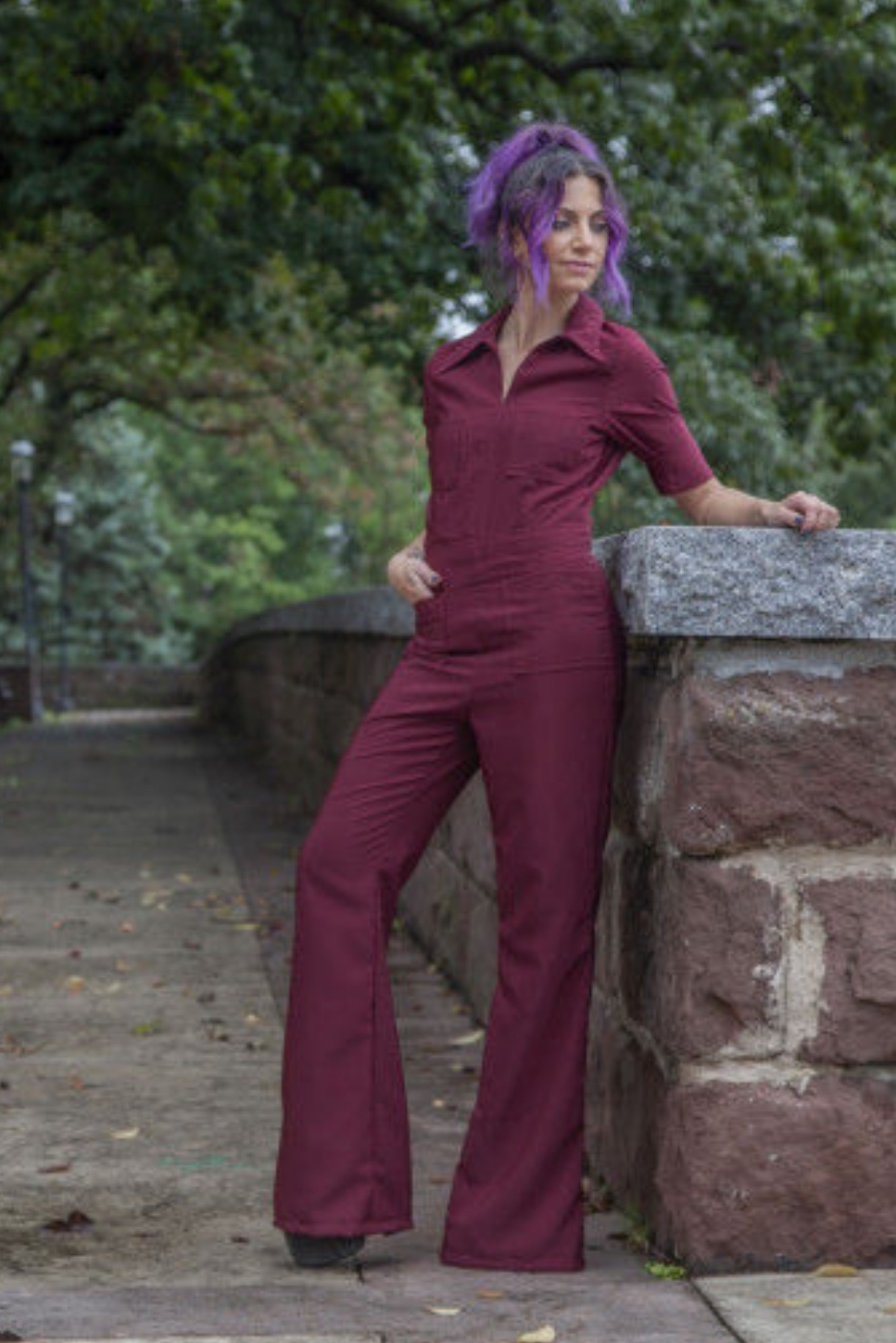 Cherry Jumpsuit by Mood Sewciety
