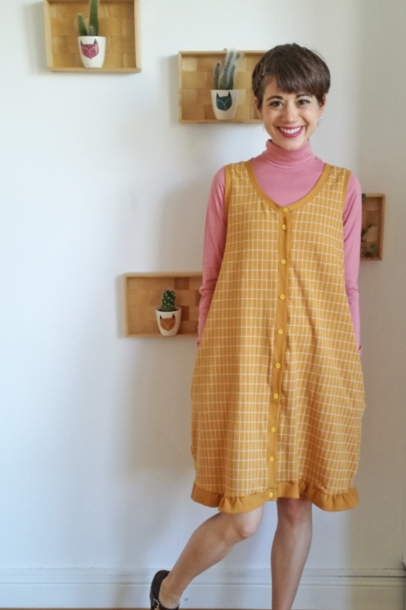 The lovely Pumpkin Cardi and Cardi Dress Sewing Pattern from CocoWawa Crafts