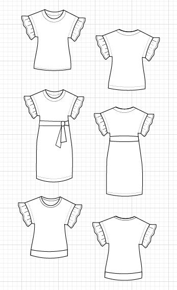 The Aida Top sewing pattern