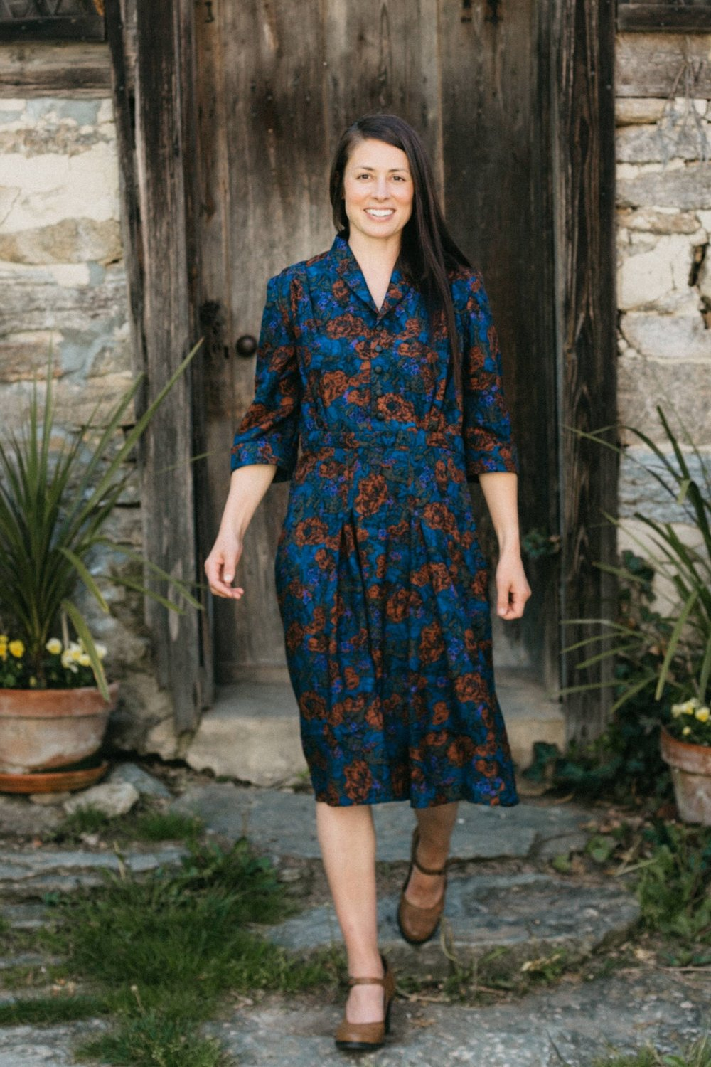 Lindy Shirtdress from Folkwear sewing patterns