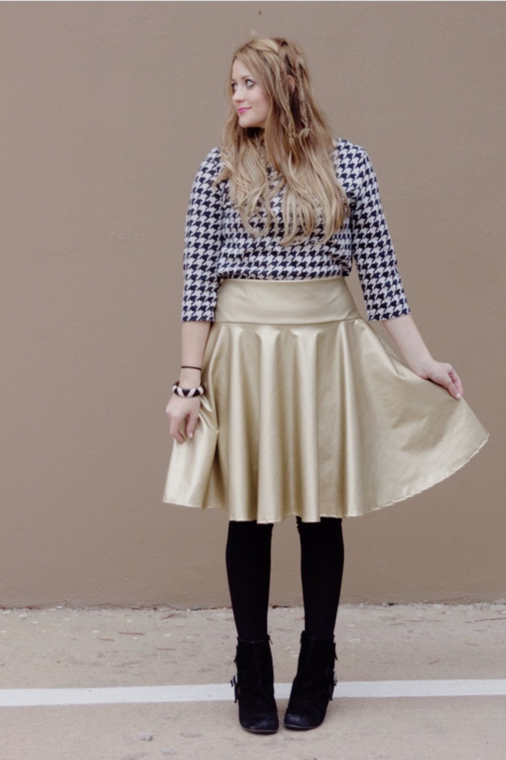 Pleather Circle Skirt by See Kate Sew