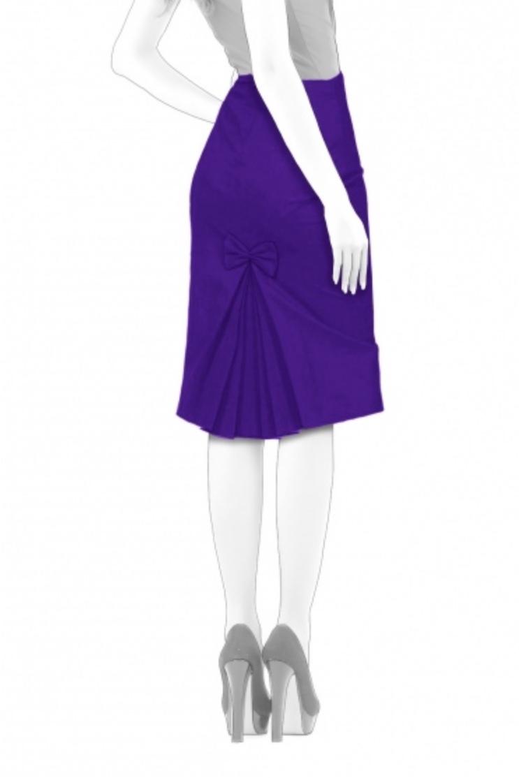 Pleated Inset Skirt from Lekala