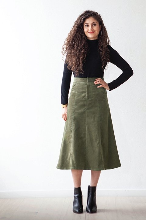 Salida Skirt sewing pattern from True Bias