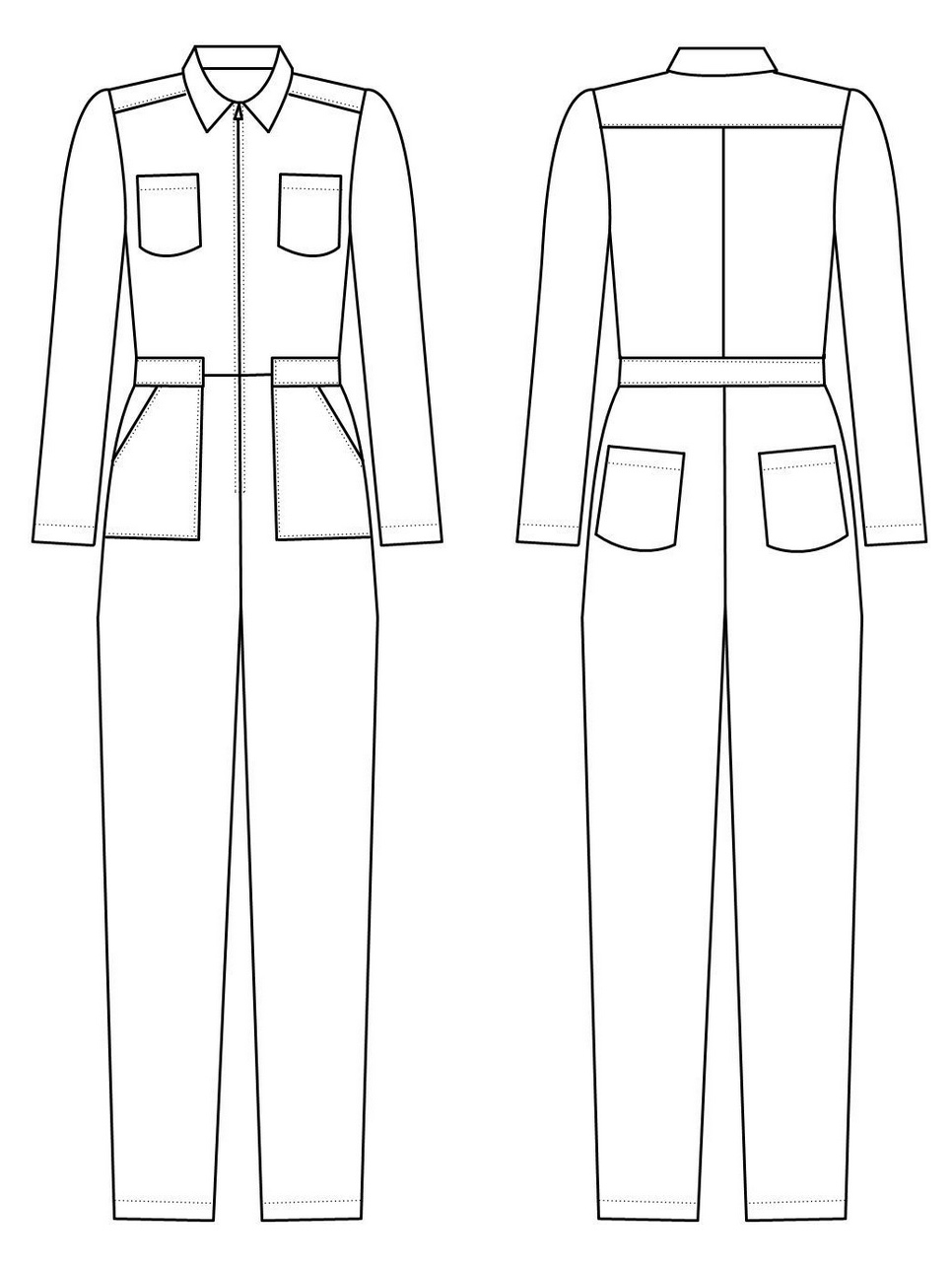 Intrepid Boiler Suit from Alice & Co Patterns