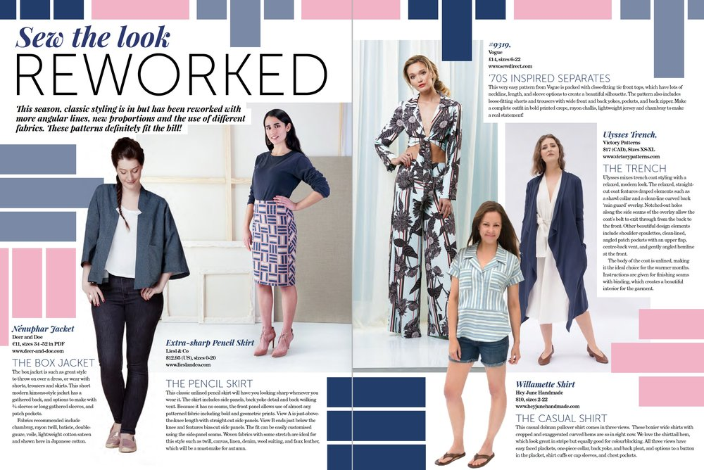 Reworked classics - Sew the look - The Pattern Pages