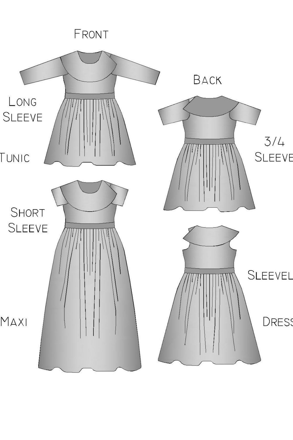 Clover Dress PDF sewing pattern from George + Ginger