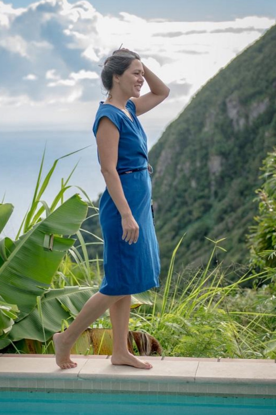Vondel wrap dress sewing pattern from Halfmoon Atelier