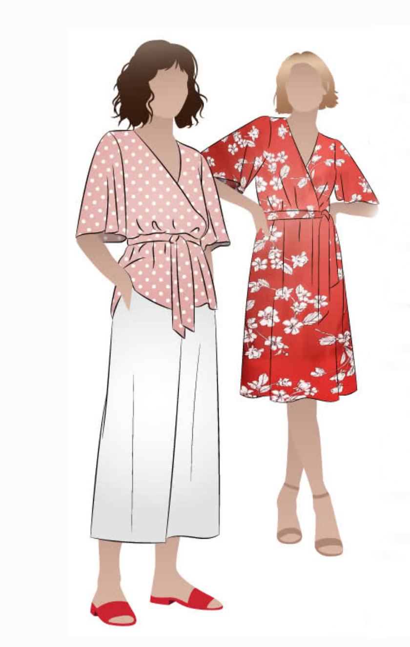 Bonita wrap dress and top sewing pattern from Style Arc