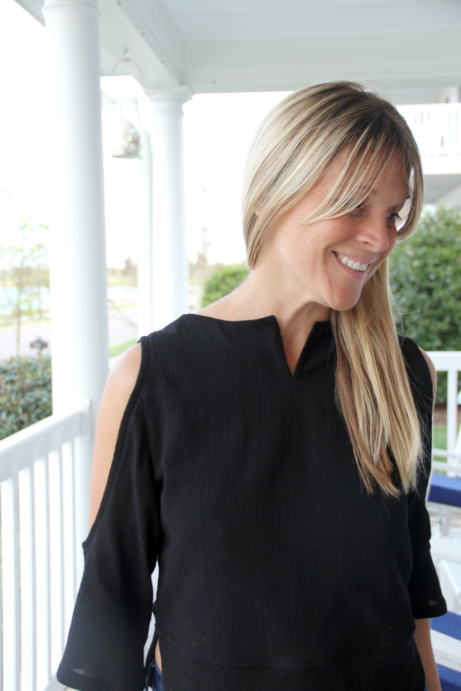 Open Shoulder Top from Sewing Rabbit