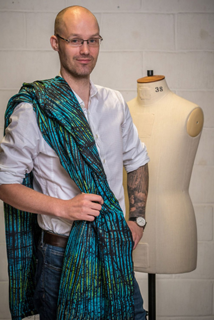 Alexei   Alexe i  is 36, lives in Leeds and is a Manufacturing Engineer. He started sewing about two years ago and uses his skills as an engineer to make precise garments. His sewing is sometimes hindered by his MS, which affects his right side of the body – so he has learned to use his left hand to work on his creations.