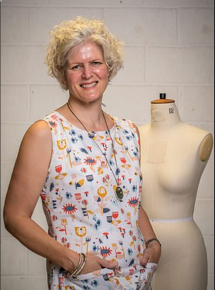 Jen   Jen is 49, lives I Glasgow and is and self-employed. Jen owned her own sewing machine aged 14 and loved to up-cycle clothes from charity shops. She recently returned to sewing and enjoys sewing items with a Japanese influence that are neat and structural.  Follow her on Instagram – @jenerates