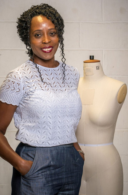 Sheila   Shelia is 51, lives in Illford in Essex, and is a Care Liaison Officer. Jamacian-born, she moved to the UK as part of the Windrush generation and loves fashion and has been sewing for 40 years, She enjoys enjoys making occasion wear for special events and is inspired by the style of Victoria Beckham and Megan Markle.  Follow her on Instagram – @s.elizabeth.hall