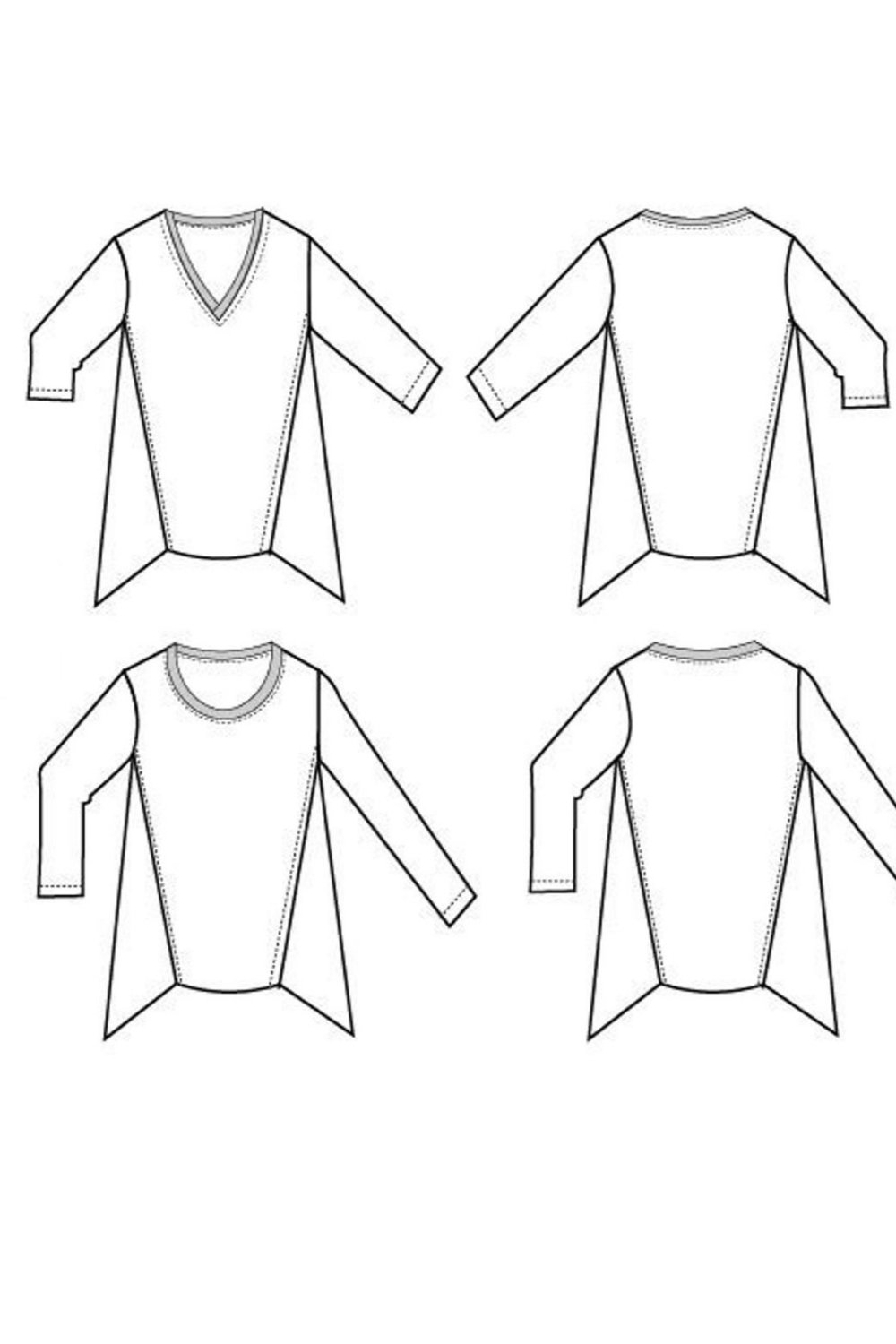 Debbie knit top sewing pattern from DG Patterns