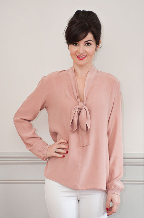 Pussy Bow Blouse by Sew Over it