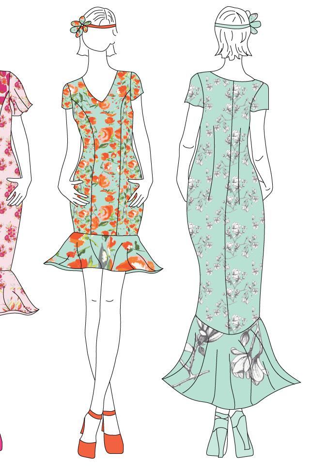 99102a1b86a Clara Dress sewing pattern from Designer Stitch