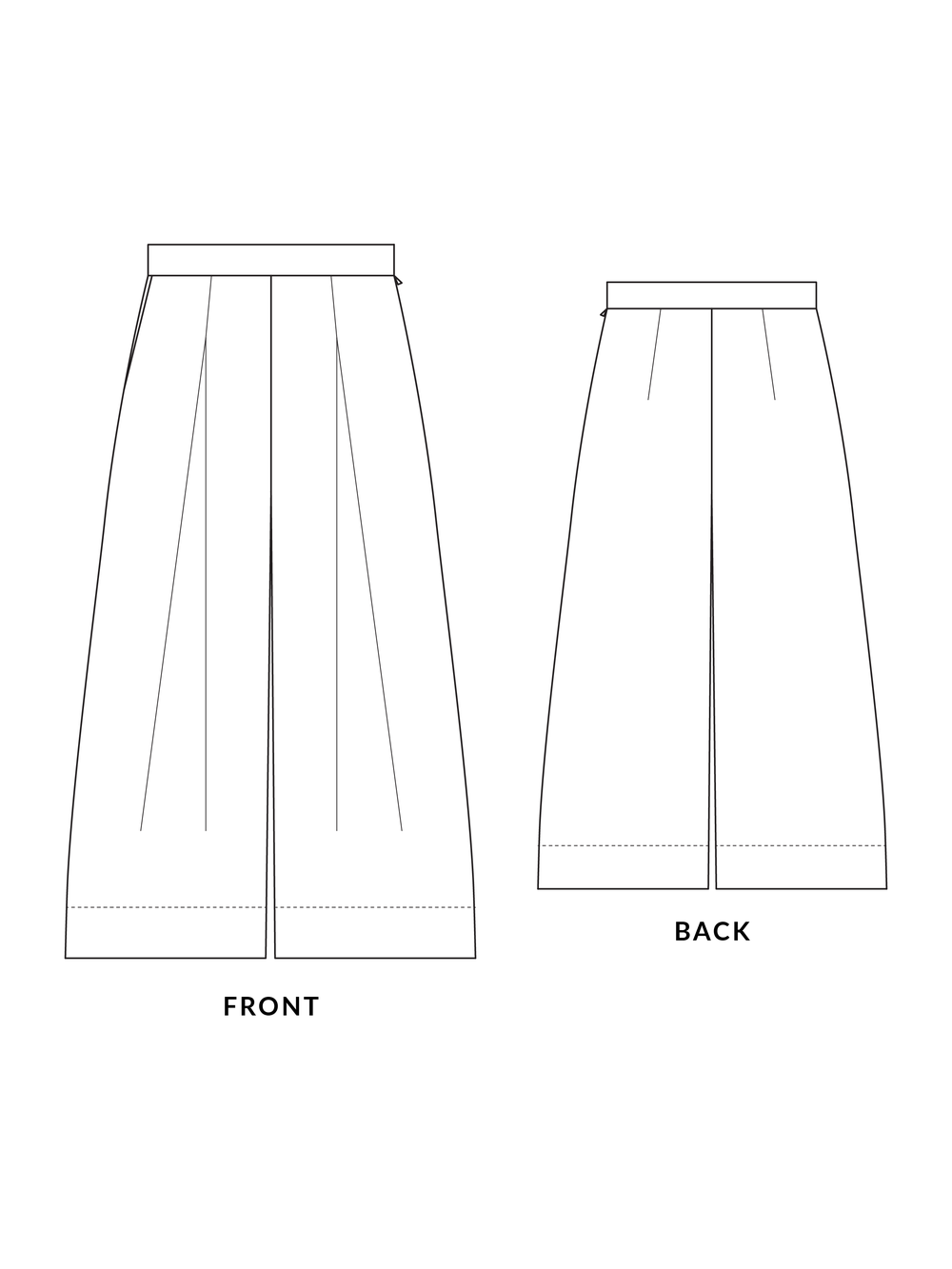Heron Culottes from Afternoon Patterns