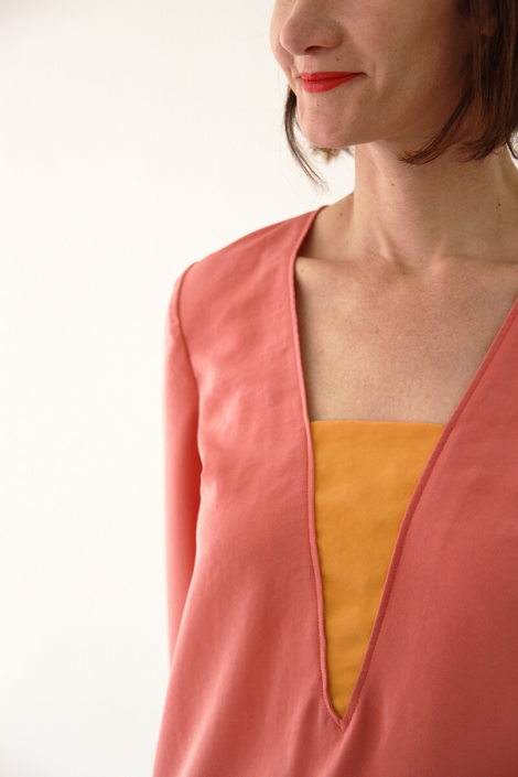 Flora blouse sewing pattern from I AM Patterns