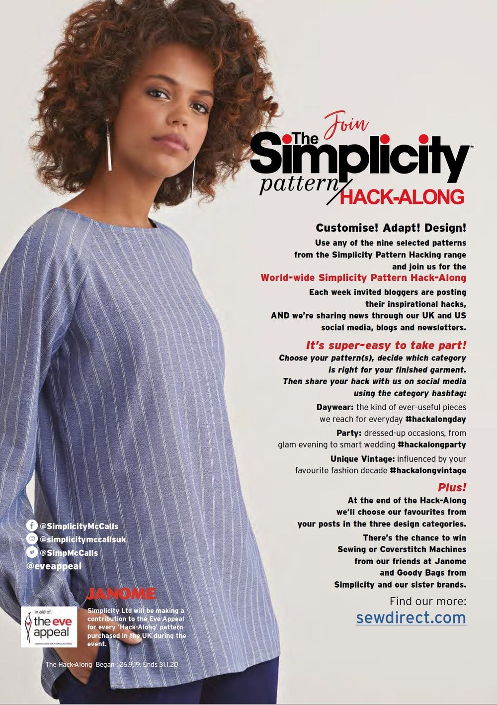 Sew Direct - New home to Simplicity, Vogue, McCalls, Kwik Sew, Butterick, NewLook and Burda