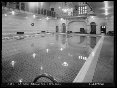 Oliver Bath House, January 12th, 1938.