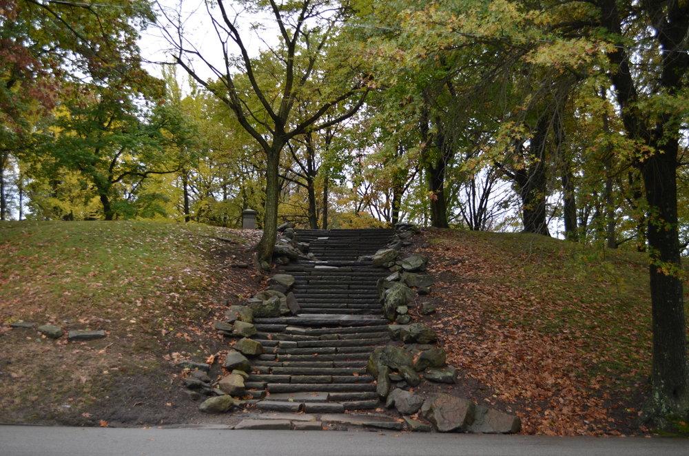 Stone Stairway to Negley Monument