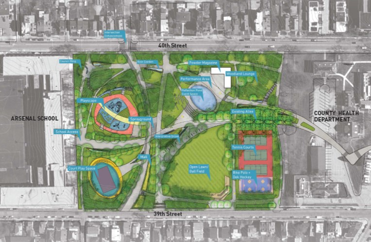 """Arsenal Park Master Plan"", Pittsburgh Parks Conservancy."